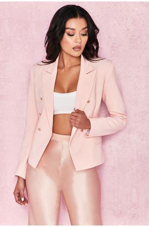 Amandine Pink Crepe Tailored Blazer