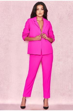 Dawna Electric Pink Crepe Trousers