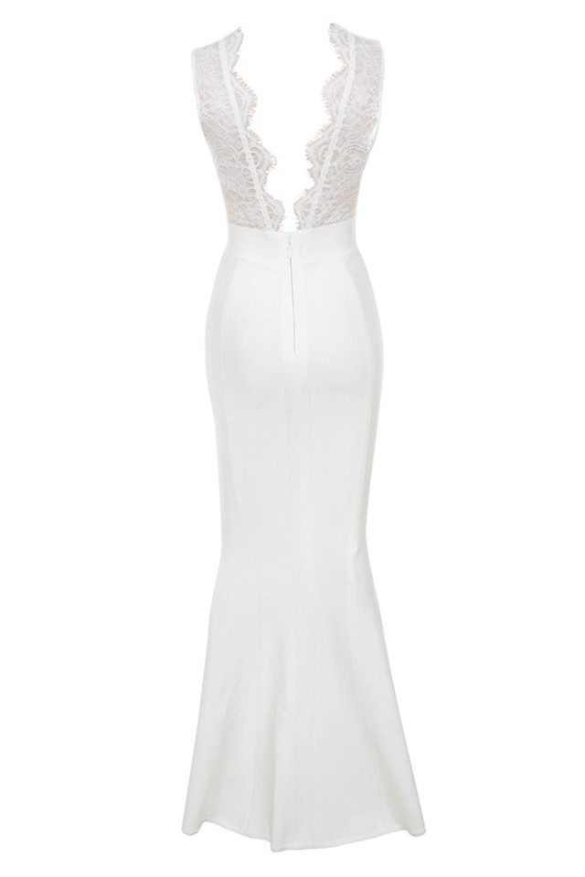 balere dress in white