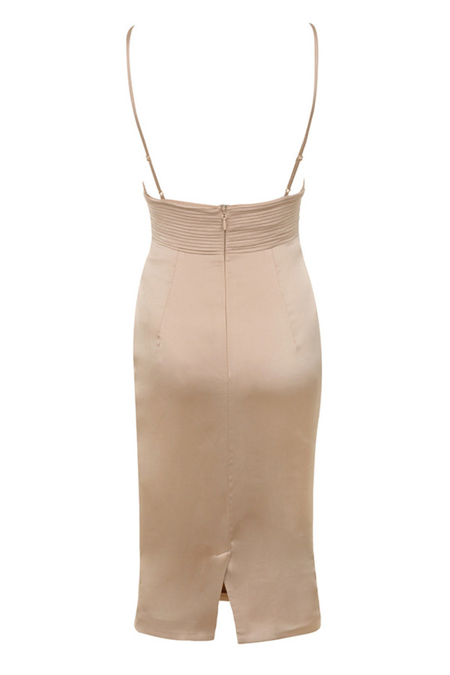 ronel dress in nude
