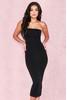 Luciana Black Strapless Seamless Knit Dress