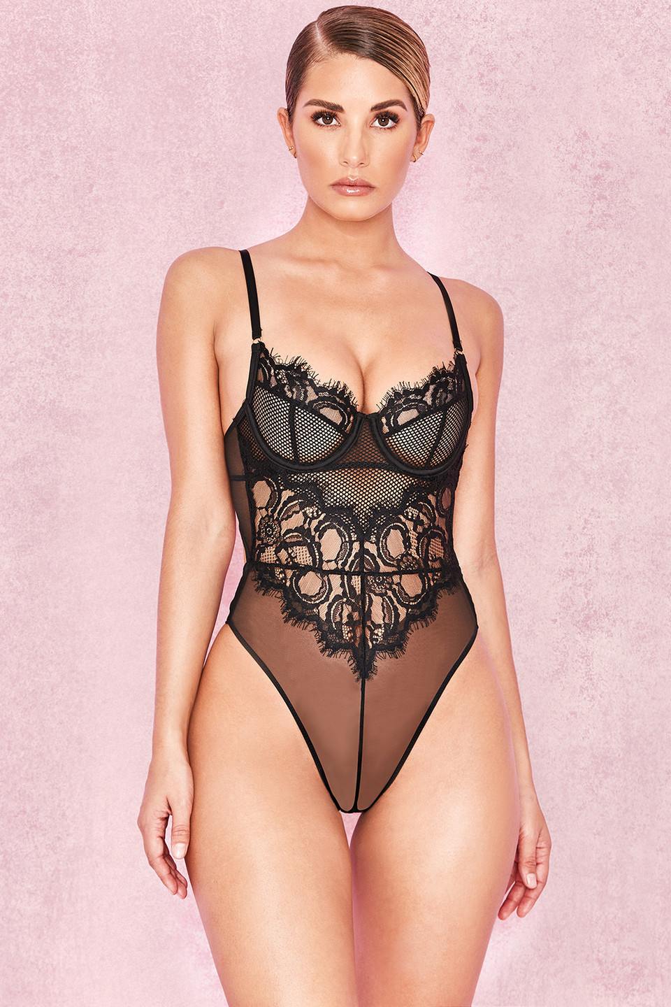Nadia Black Lace Bodysuit