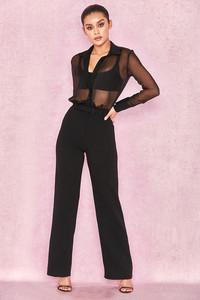 Lili Black Chiffon Crepe Jumpsuit