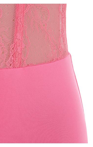 pink claudette top