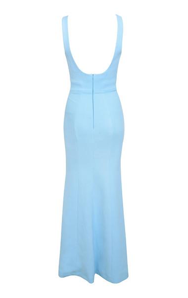 macie dress in blue