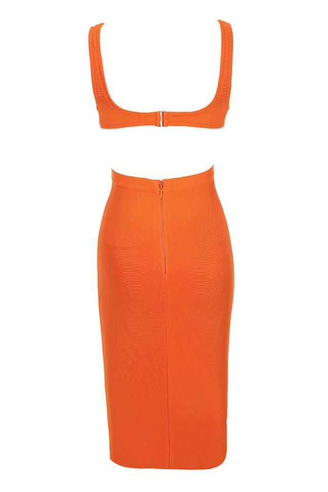 justina dress in orange