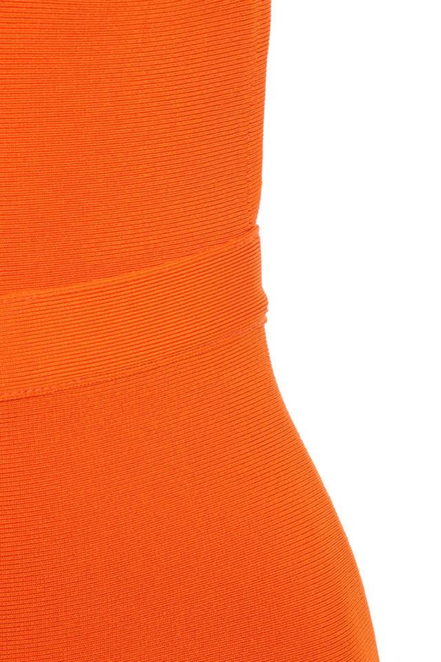 orange justina dress