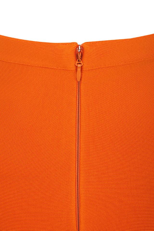 justina orange dress