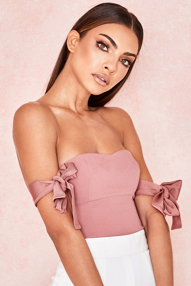 Seren Clay Pink Off Shoulder Bodysuit
