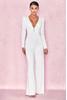 Martina White Silky Jersey Wide Leg Jumpsuit