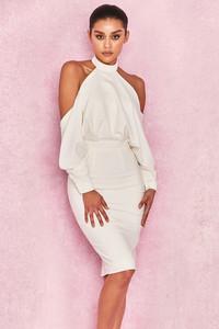 Camora White Draped Top Midi Dress