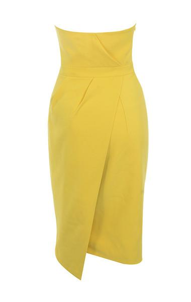 uma dress in yellow