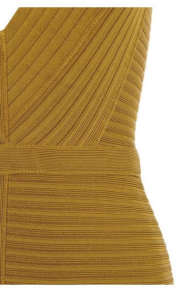 mustard verbena dress