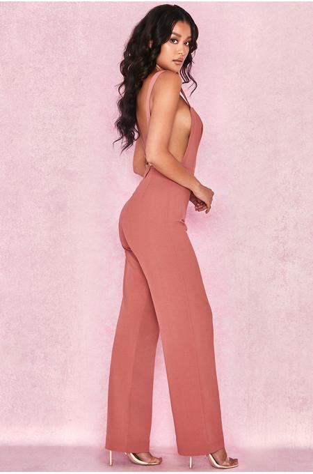 Abbi Rose Pink Side Boob Jumpsuit