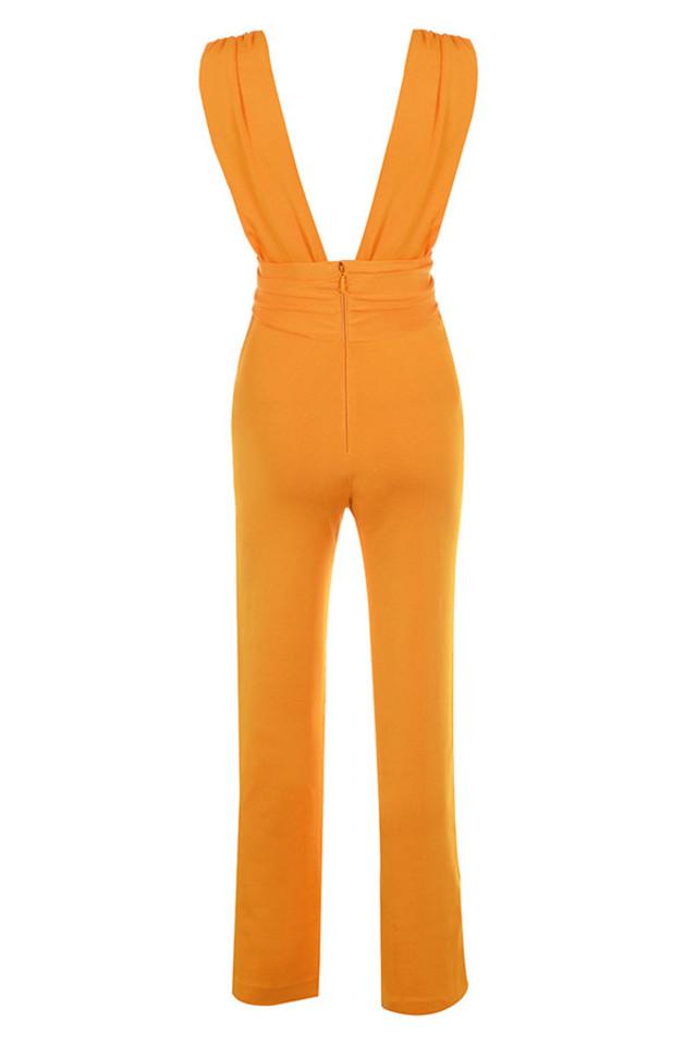 benedetta jumpsuit in tangerine