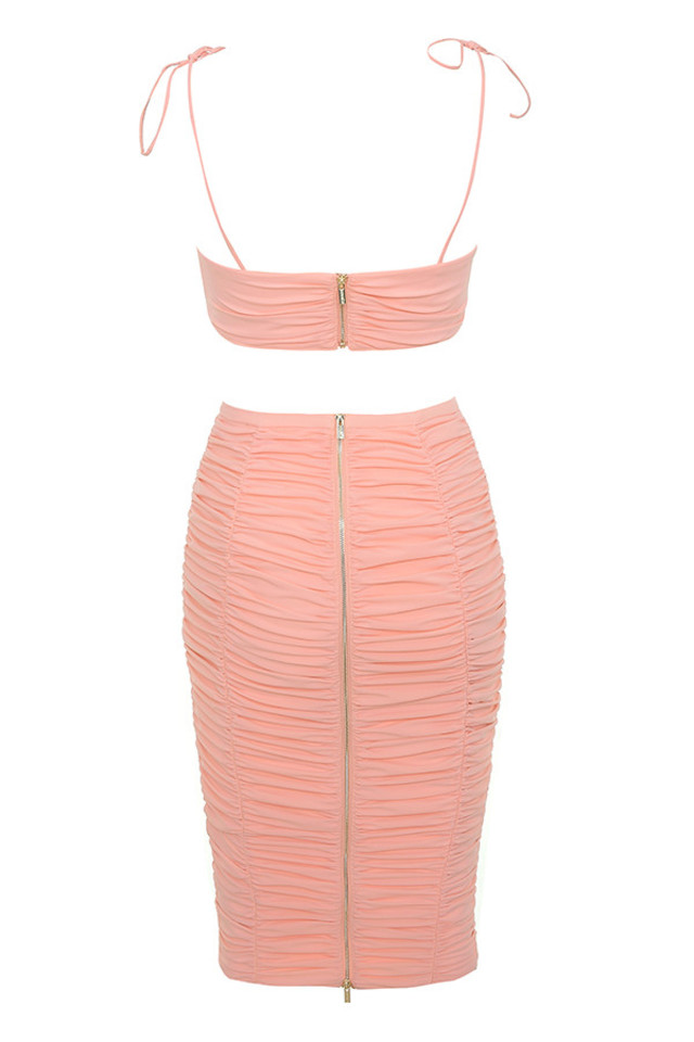 marla dress in blush