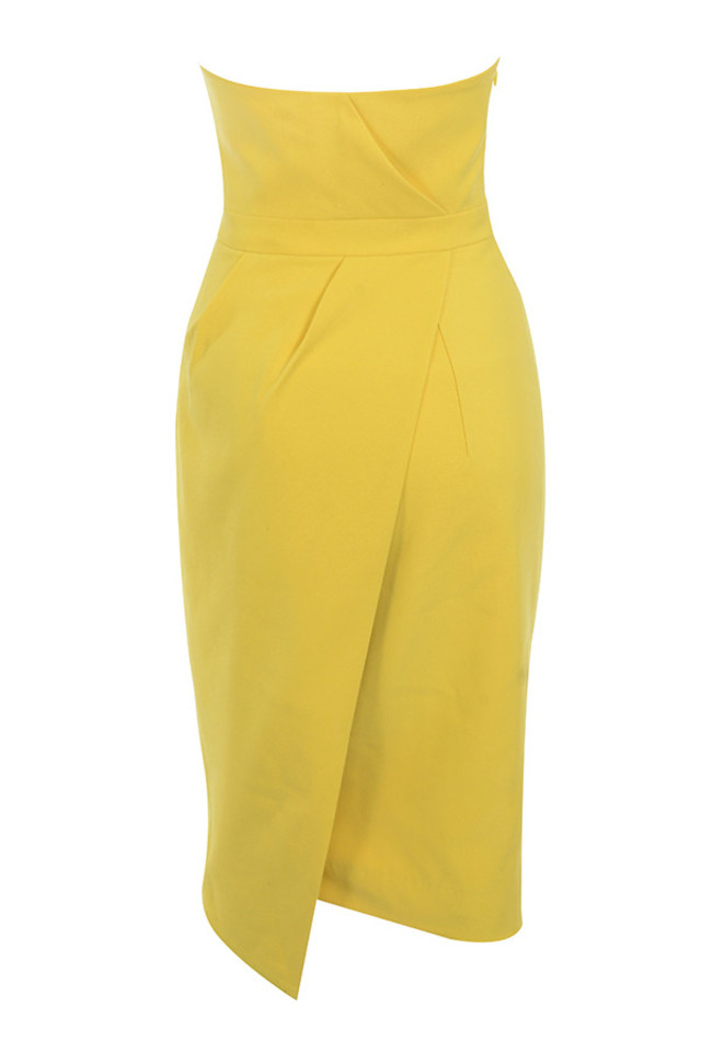 uma dress in yellow