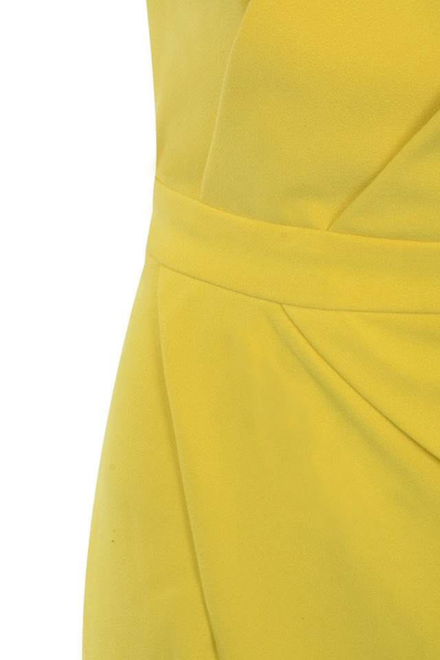 yellow uma dress