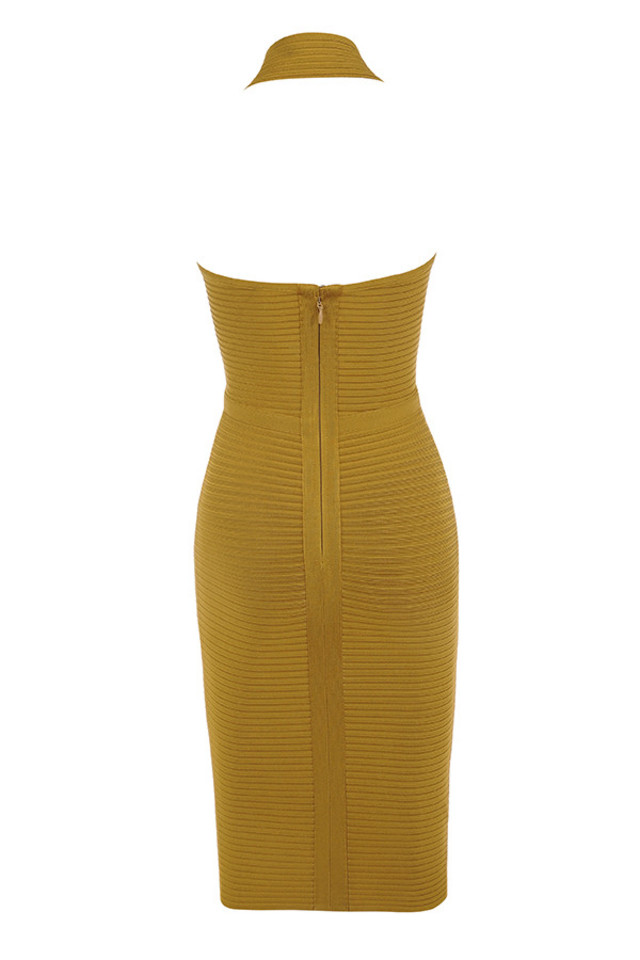 verbena dress in mustard