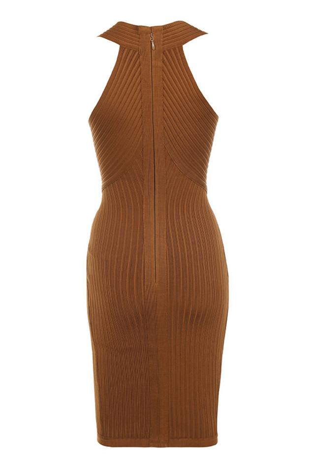 vivienne dress in toffee