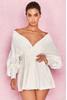 Amber White Oversized Shirt Dress