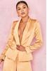 Cilou Gold Satin Tailored Jacket