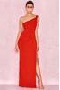 Lara Red Bandage One Shoulder Maxi Gown