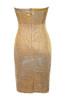 rinah dress in gold