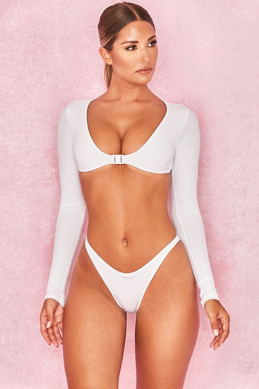 Namibi' White Long Sleeve Bikini Two Piece