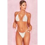 'Rheya' White Crochet Triangle Bikini Two Piece