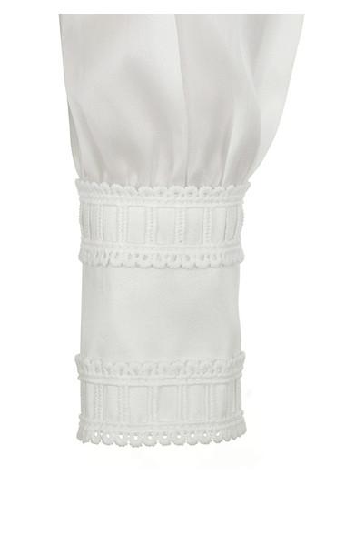 white aude shirt