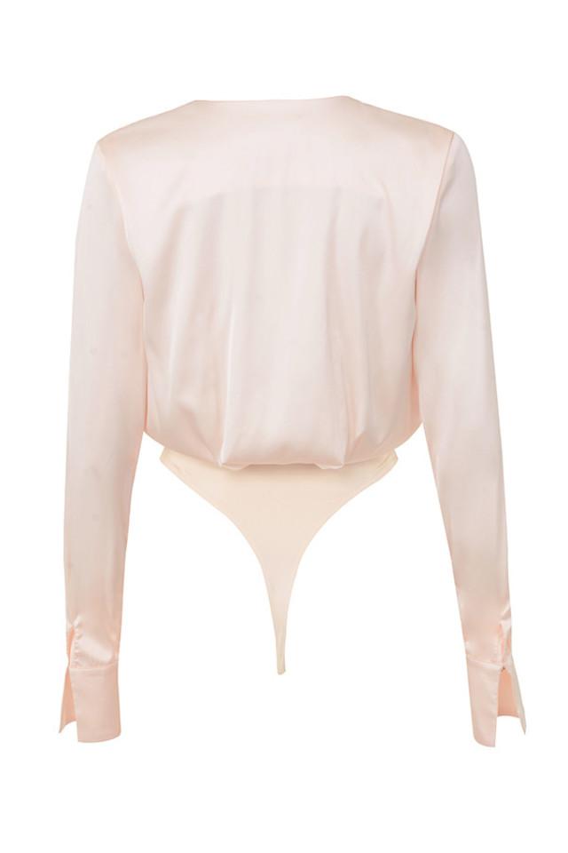 aliza bodysuit in blush
