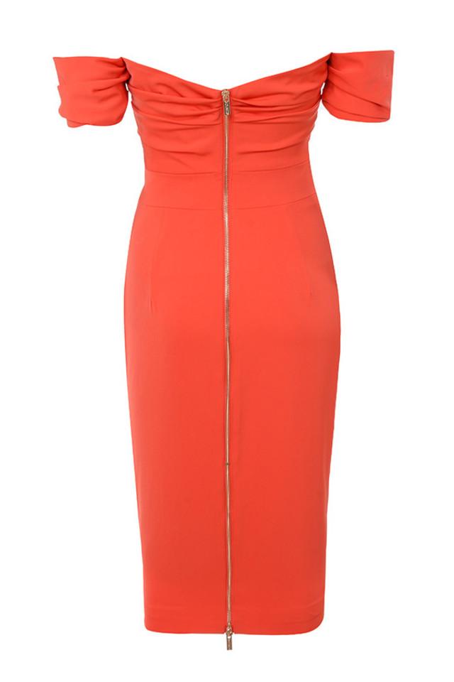 anaelle dress in orange