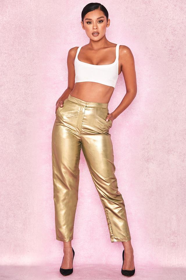 Dawna Gold Twill Trousers