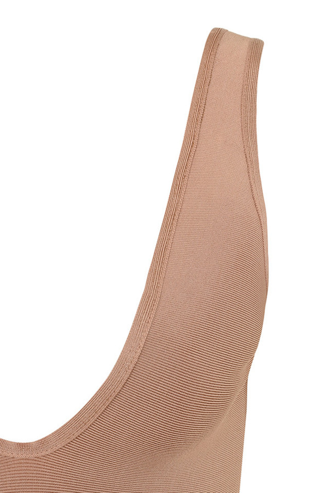 lois bodysuit in camel