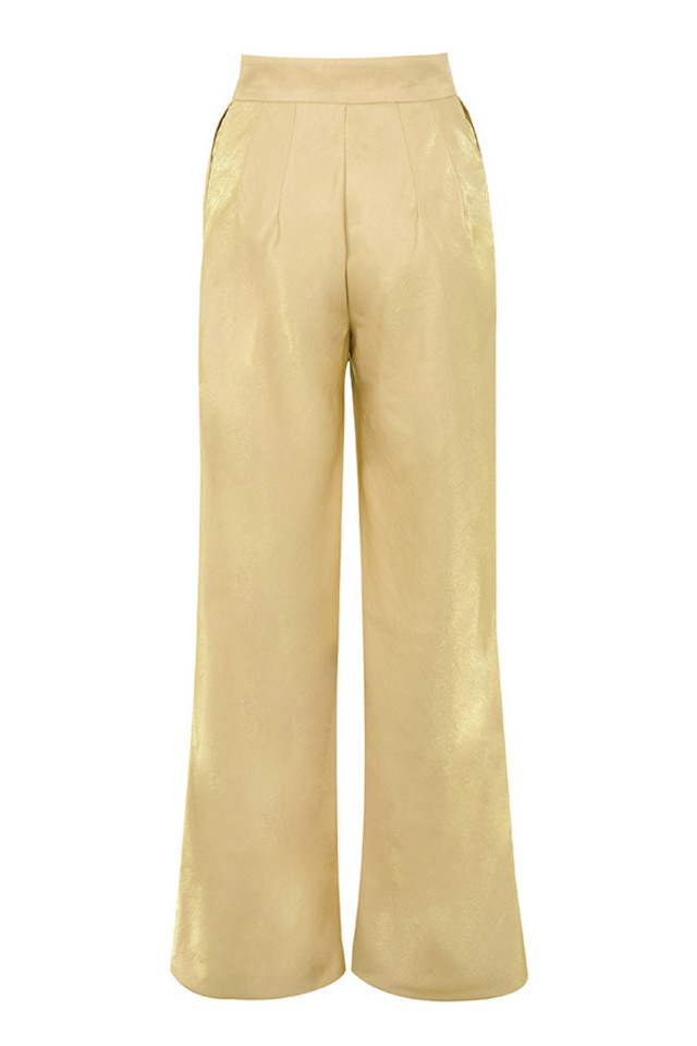 margo trousers in gold