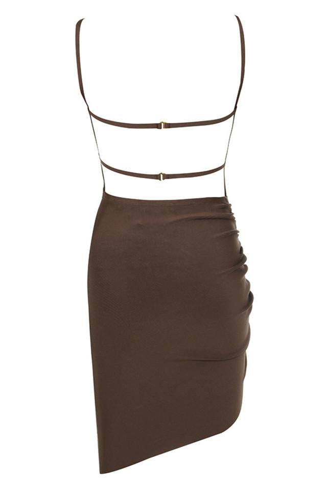 meghan dress in brown