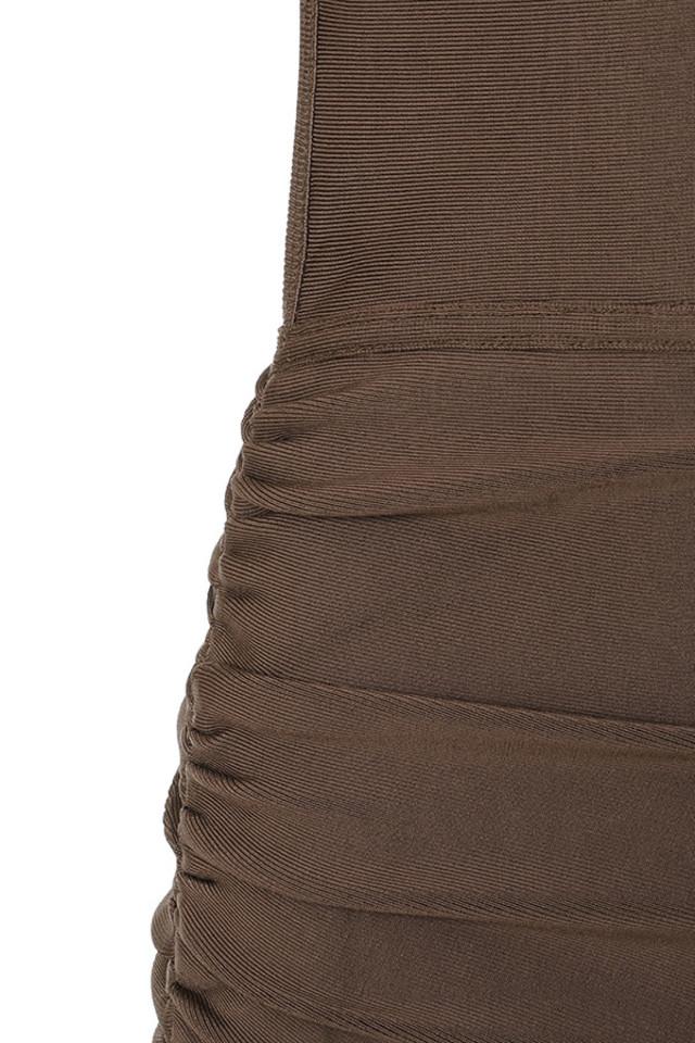 brown meghan dress