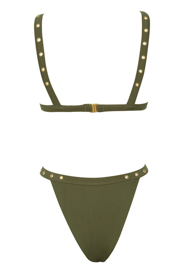 saigon bikini in khaki