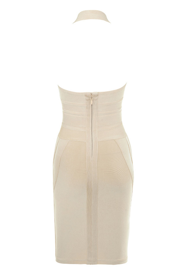 saku dress in champagne
