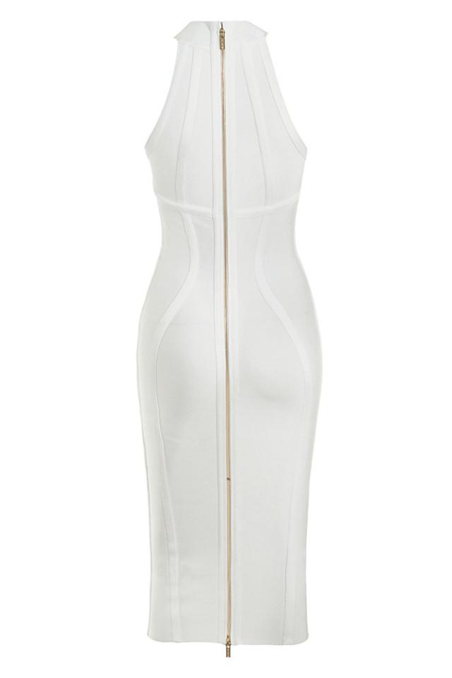 tamura dress in white