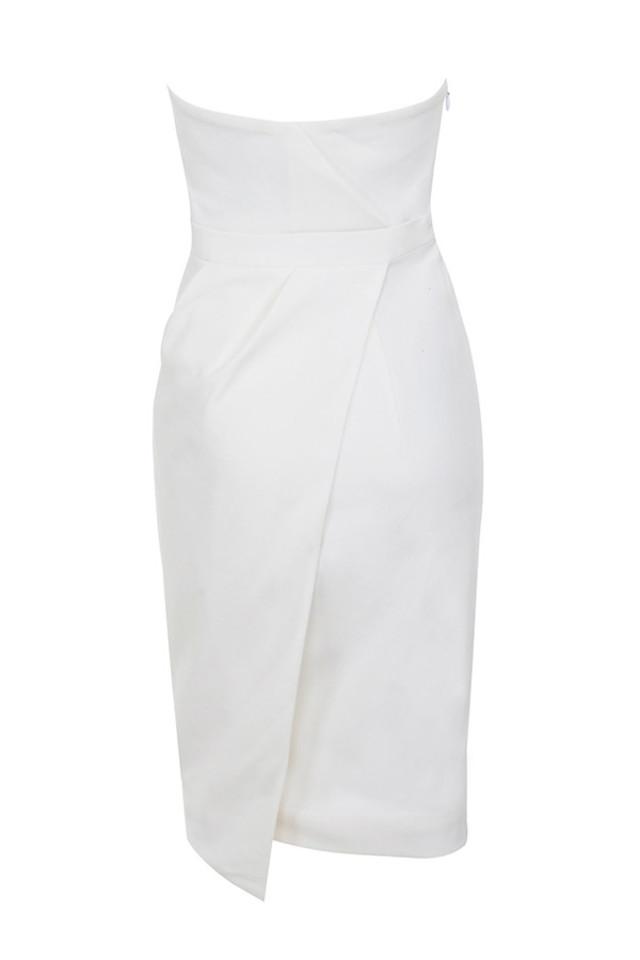 uma dress in white