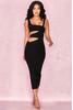 Miya Black Bandage Cut Out Dress