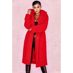 Bear Red Faux Fur Sherpa Coat