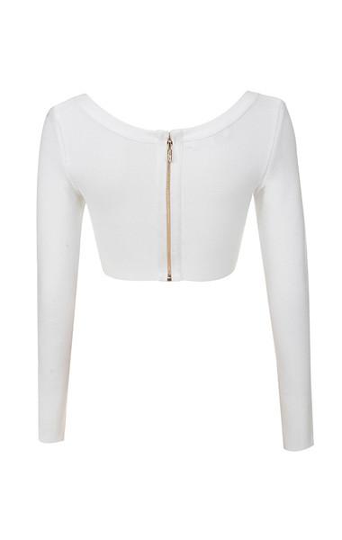 eliana top in white
