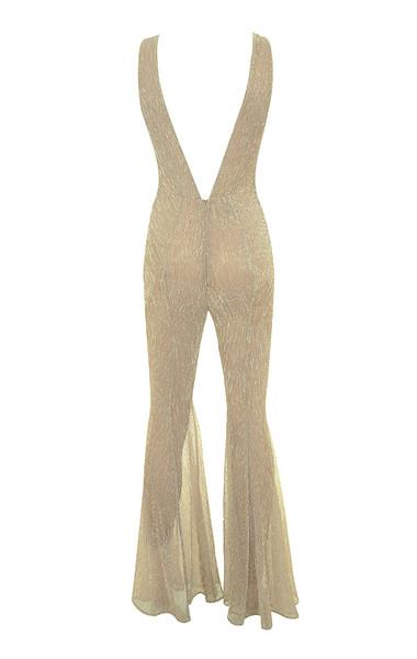 fallon jumpsuit in nude