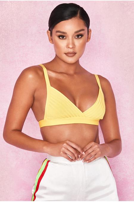 'Jae' Yellow Bandage Bralet Top
