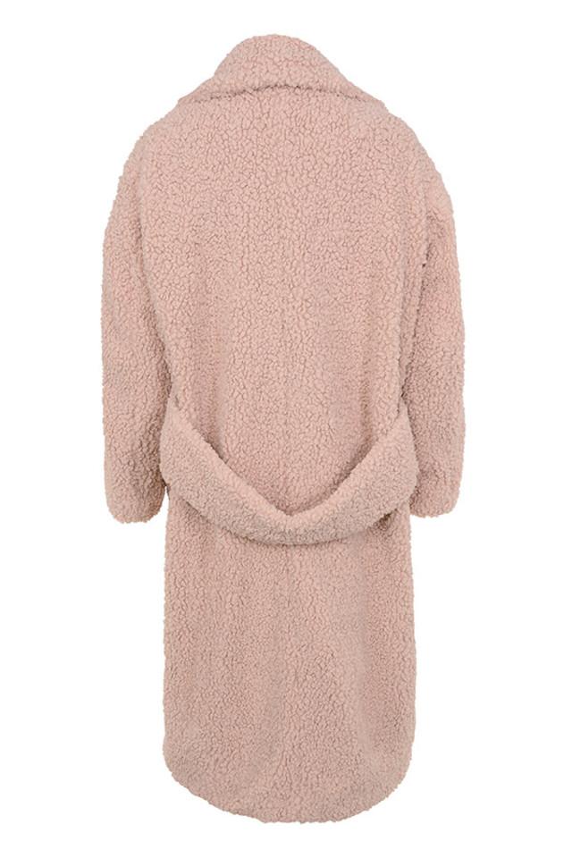 bear coat in pink