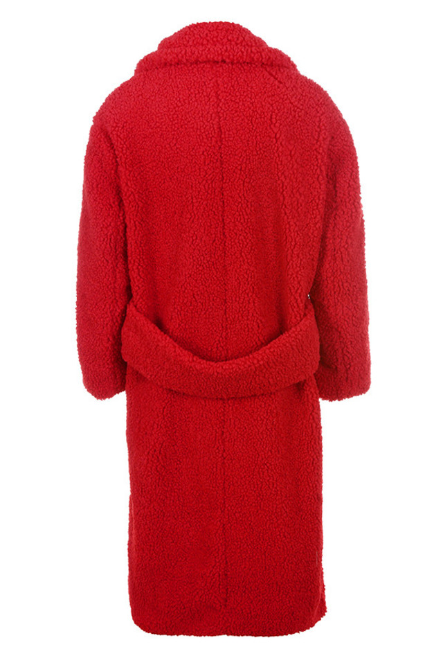 bear coat in red