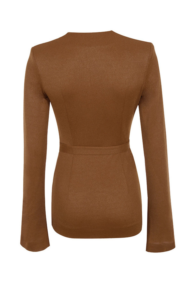 georgina dress in tan